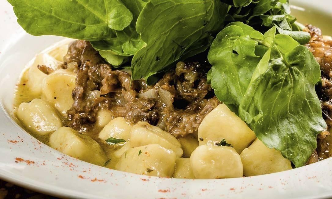 Semana Gourmet. A Eccelenza serviu nhoque de rabadinha Foto: Divulgação/Miguel Sá