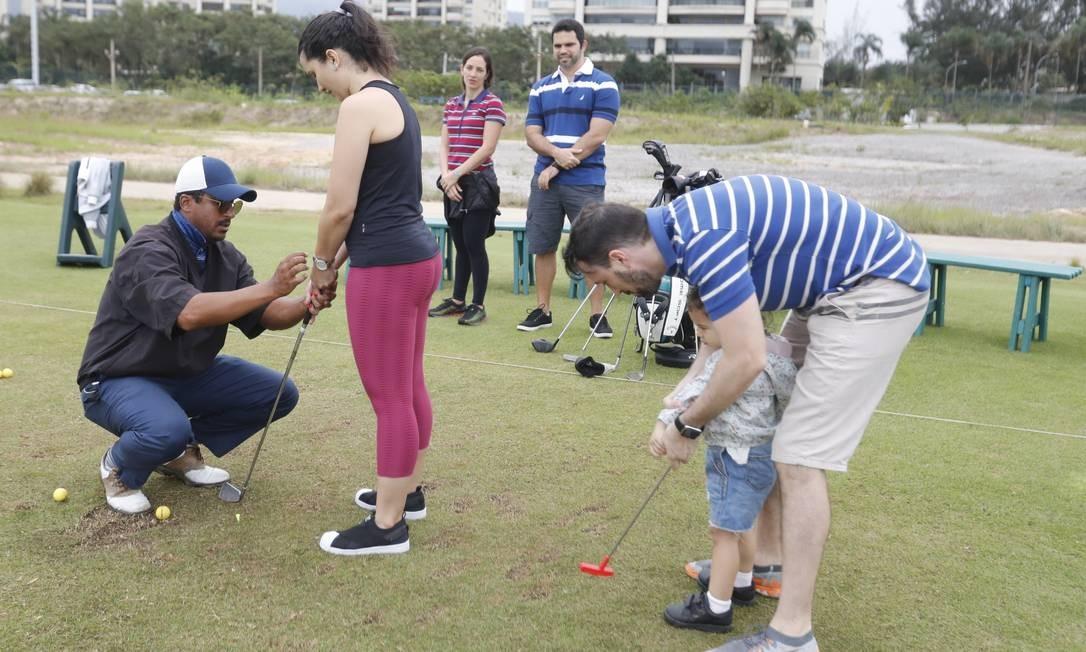 Campo Olímpico de Golfe. Espaço teve aulas gratuitas para iniciantes e jogadores experientes Foto: Marcelo de Jesus