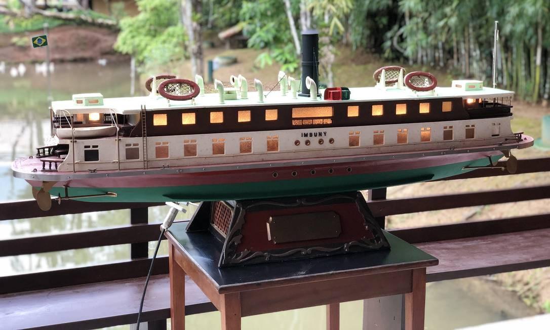 Imbuhy. A réplica da embarcação em perfeito estado Foto: Divulgação/Manoel Francisco de Oliveira