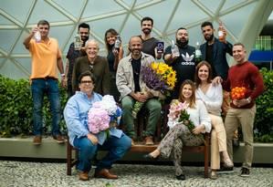 Participantes da segunda edição de O Desenho da Flor, que este ano ganha reforço com o Gin Garden Foto: Agência O Globo / Brenno Carvalho