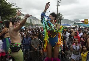 A Parada LGBT de Copacabana ocorreu no final de setambro Foto: Hermes de Paula / Agência O Globo