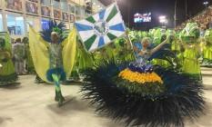 Acadêmicos da Rocinha se prepara para abrir os desfiles na Sapucaí Foto: Guilherme Ramalho