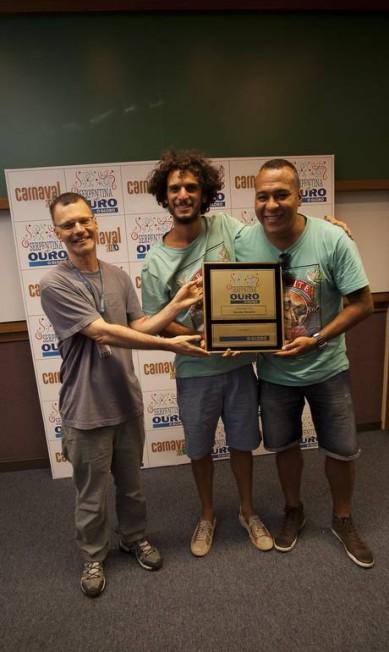 """Integrantes do Spanta Neném, premiados na categoria Samba Original com """"Rio, O Olimpo é aqui"""" Analice Paron/Agência O Globo"""
