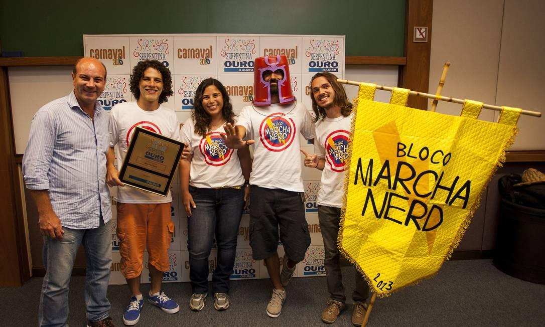 Bloco Marcha Nerd, vencedor na votavßv£o popular para melhor bloco Analice Paron/Agência O Globo