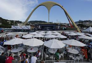 Apuração do desfile das escolas de samba, no Sambódromo Foto: Domingos Peixoto / Agência O Globo