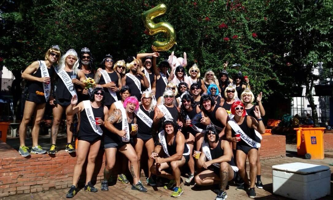 Comemoração de 5 anos; grupo dobrou desde então Foto: Arquivo Pessoal