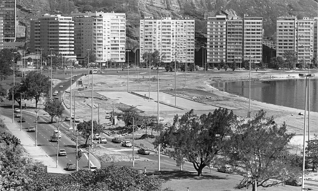 Em 1978. Imagem mostra a Lagoa Rodrigo de Freitas - Parque do Cantagalo Eurico Dantas / Agência O Globo