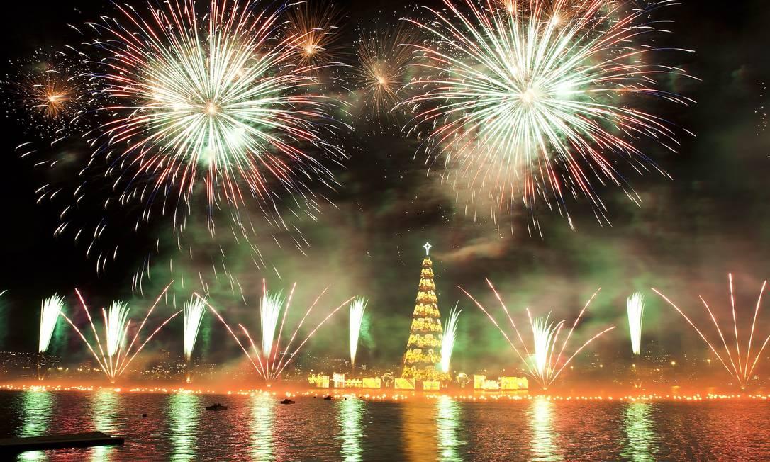 Evento de inauguração da Árvore de Natal da Lagoa, em 2011 Guito Moreto / Agência O Globo