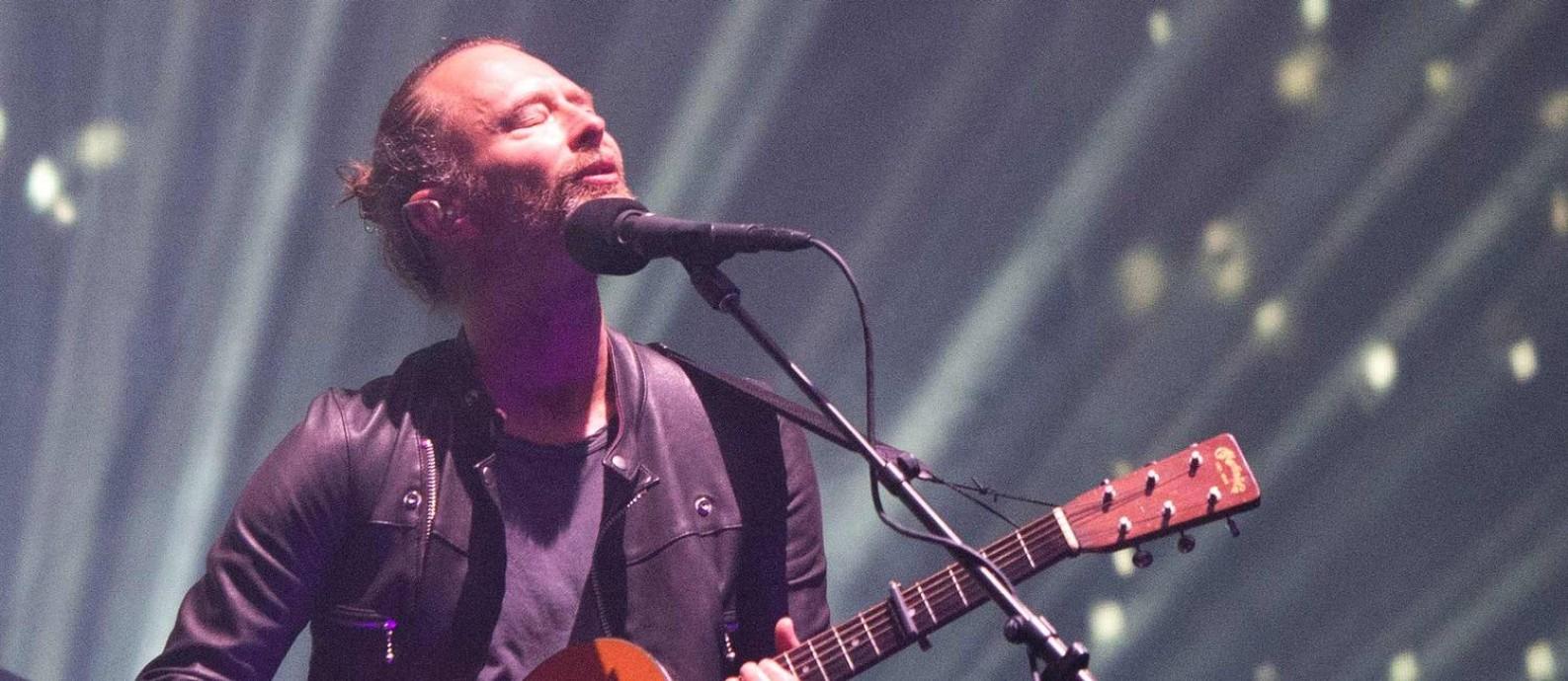 Radiohead se apresenta no Coachella deste ano, na Califórnia Foto: Valerie Macon / AFP