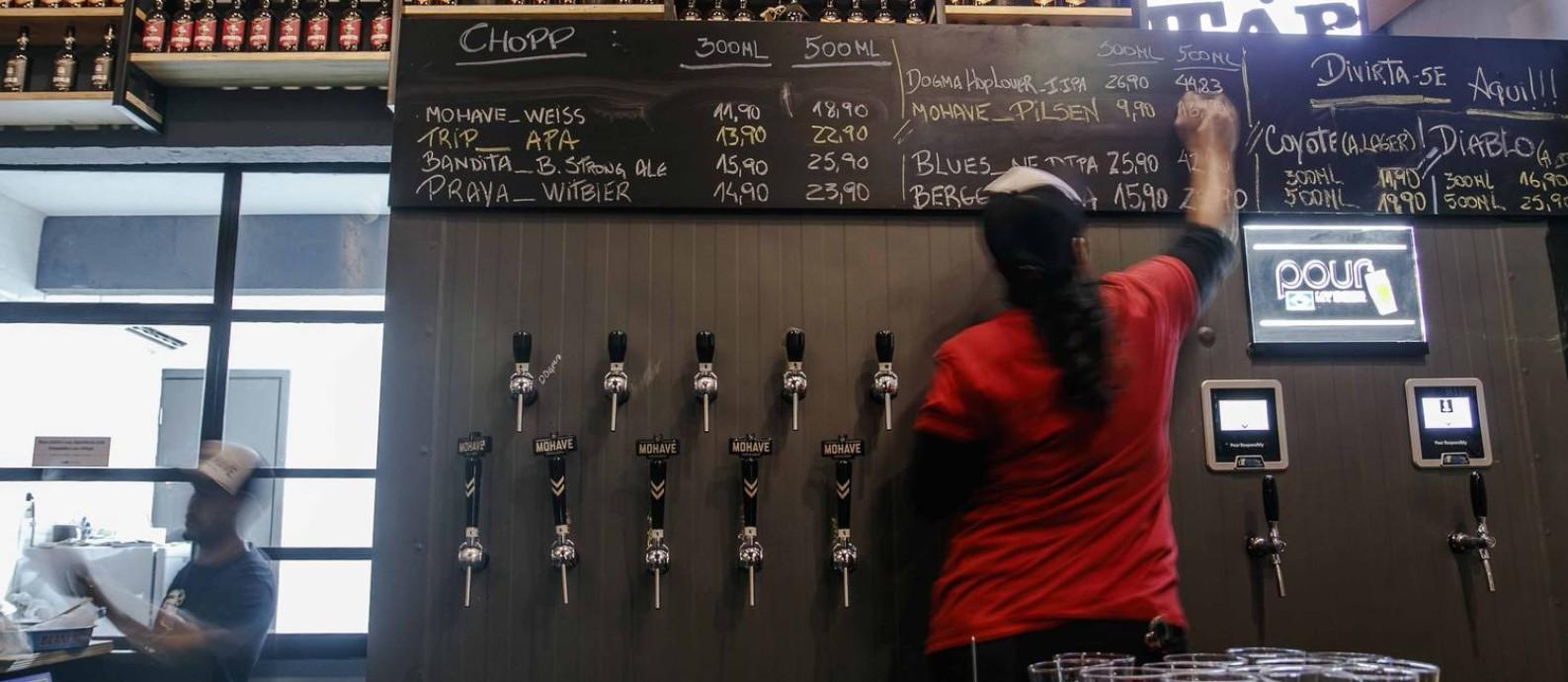 Torneiras da cervejaria Mohave