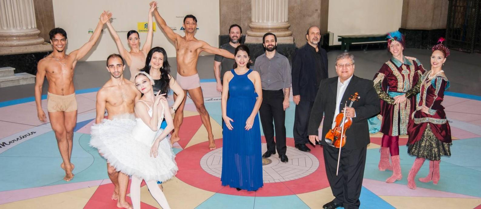 Balé, orquestra e coro do TM mostram um pouco de seu repertório Foto: Divulgação/Marcos Monteiro