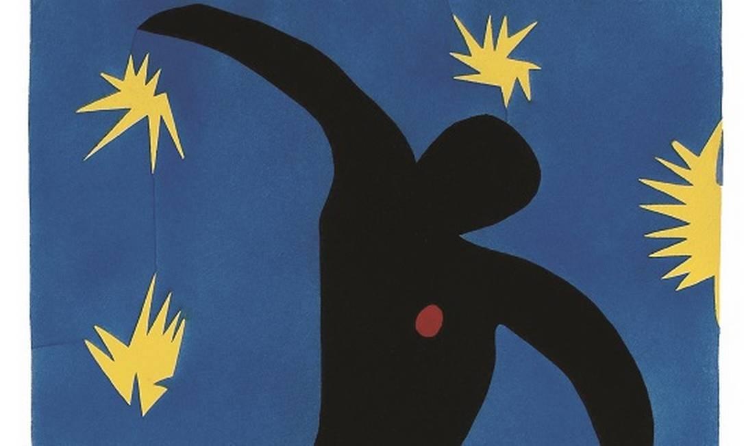 A Caixa Cultural exibe a mostra 'Henri Matisse - Jazz', com obras criadas pelo pintor (1869-1954), especialmente para o álbum 'Jazz'. Na foto, 'Icaro'. Foto: Divulgação