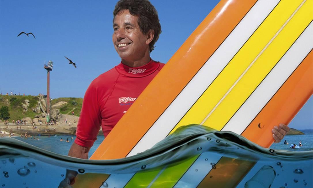 O surfista Rico de Souza é uma das personalidades clicadas por Castaing na mostra 'Aquatribos de Campeões', que abre hoje no AquaRio Foto: Bruno Castaing