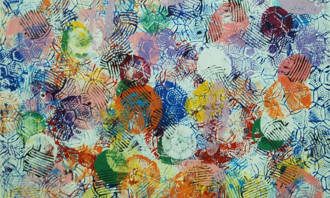 """Para Felipe, """"assim como para os sufis e pitagóricos, os números e suas simetrias representam os estágios da criação, por isso procuro brincar com o abstrato e criar um novo mundo de possibilidades com a minha arte"""" Foto: Divulgação"""
