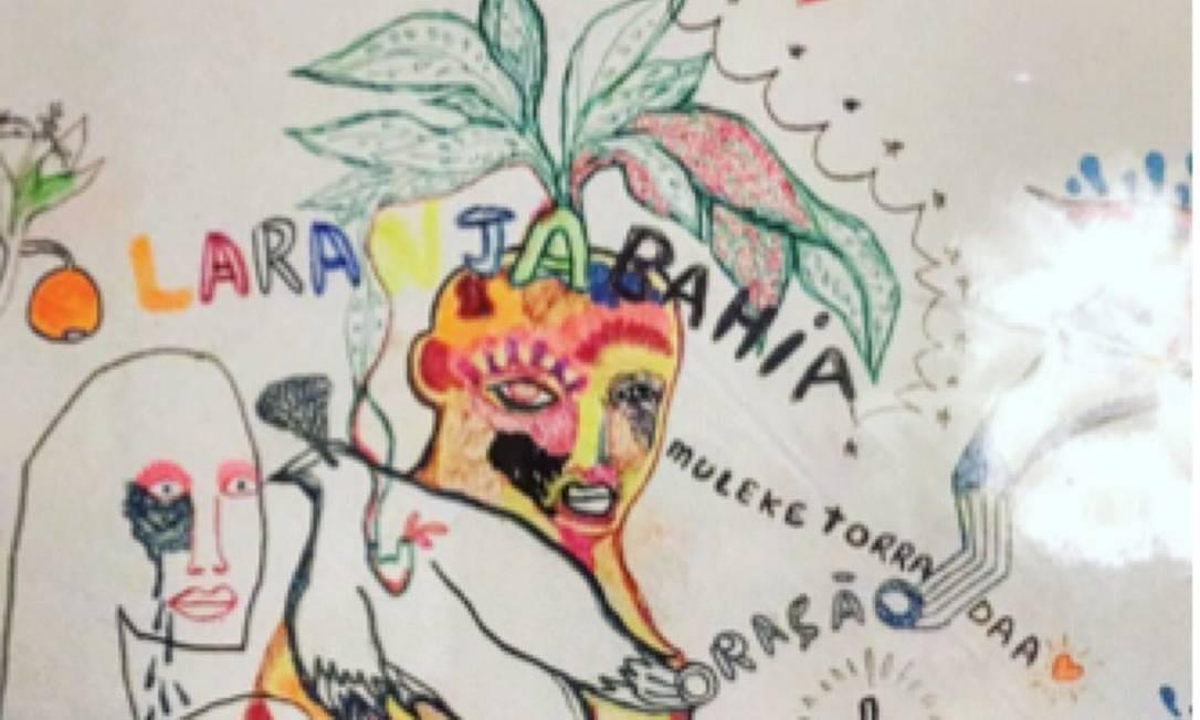 A ideia dos artistas é criar um olhar mais amplo sobre os trabalhos que têm a palavra como um dos seus elementos. Obra de Bernardo Ramalho Foto: Divulgação