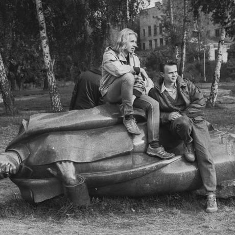 Na mostra 'A União Soviética através da câmera', o registro de Viktor Akhlomov no Parque Muzeon Foto: Viktor Aklomov