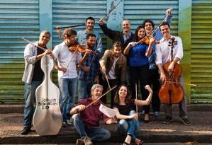 A orquestra de câmara Johann Sebastian Rio Foto: Bárbara Lopes / Agência O Globo