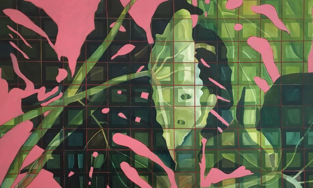 """Em cartaz na Mercedes Viegas Arte Contemporânea, a mostra """"O contexto da linha"""" dá lugar de destaque à linha reta, nas obras de diferentes artistas. Seg a sex, das 11h às 19h. Sáb, das 15h às 19h. Até 9 de fevereiro. Na foto, """"Sem título"""", de Sandra Mazzini Foto: Divulgação"""