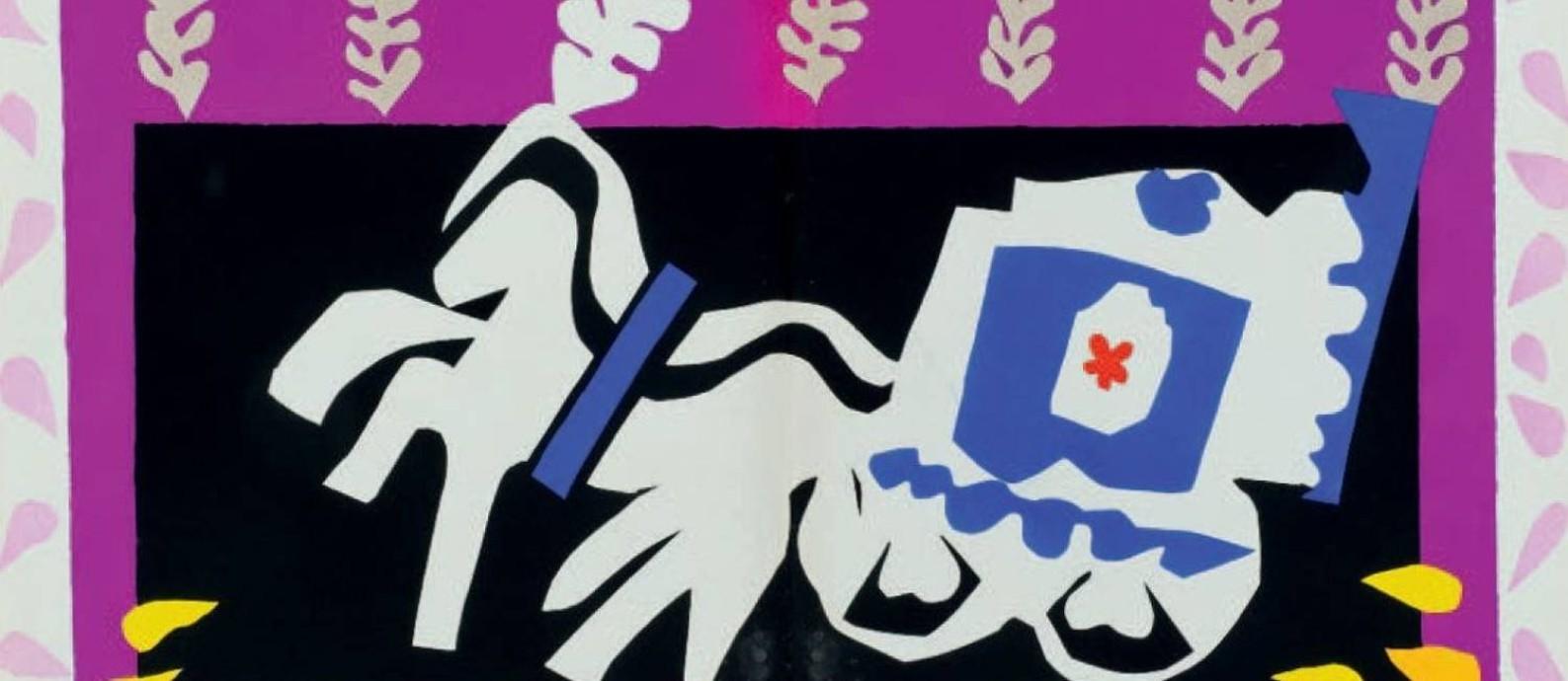 Quadro da série 'Jazz', de Henri Matisse, em cartaz na Caixa Cultural Foto: Divulgação