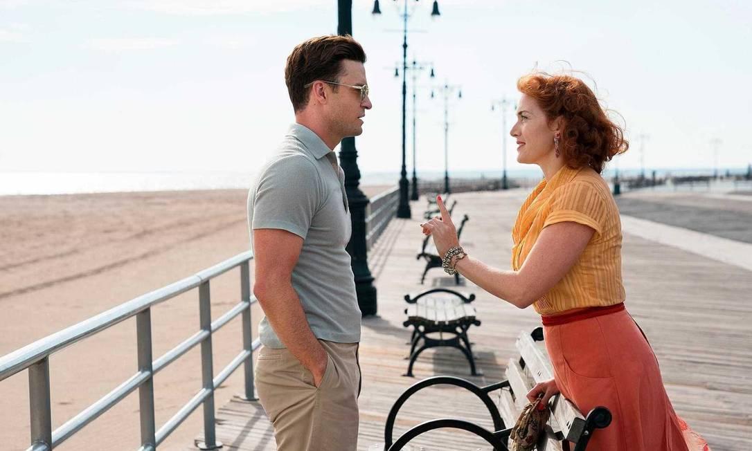 Justin Timberlake e Kate Winslet em cena do filme 'Roda gigante', de Woody Allen Foto: Divulgação
