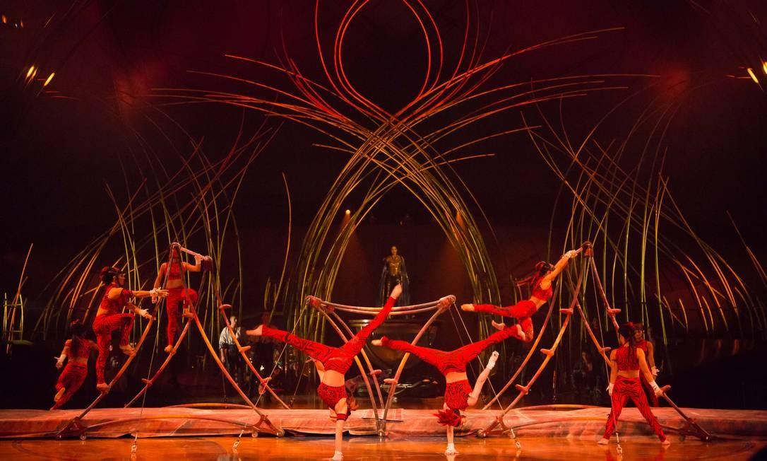 """Espetáculo """"Amaluna"""", do Cirque du Soleil. Foto: Bianca Tatamiya / Divulgação"""