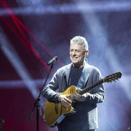 Chico Buarque na abertura da turnê