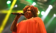A cantora Alcione Foto: Marcos Alves
