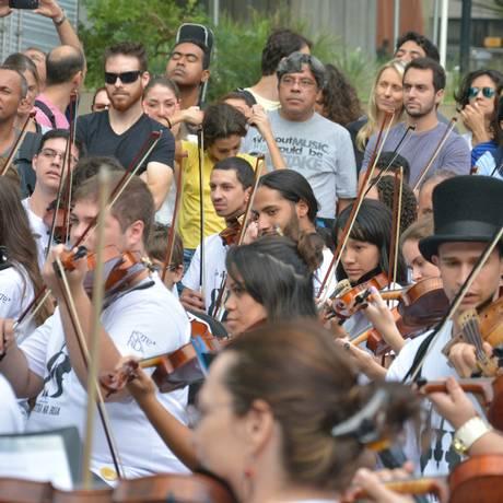 O projeto Orquestra na Rua Foto: Divulgação
