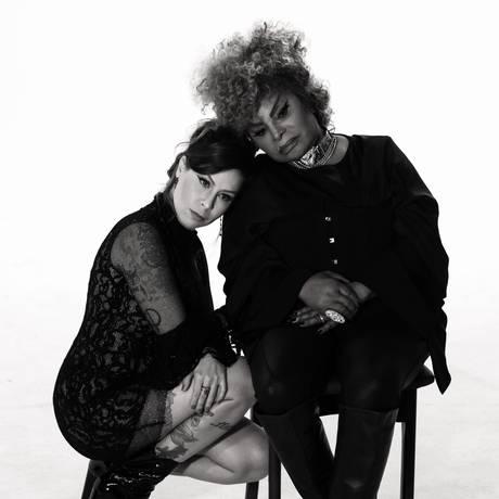 As cantoras Pitty e Elza Soares Foto: Daniel Ferro / Divulgação