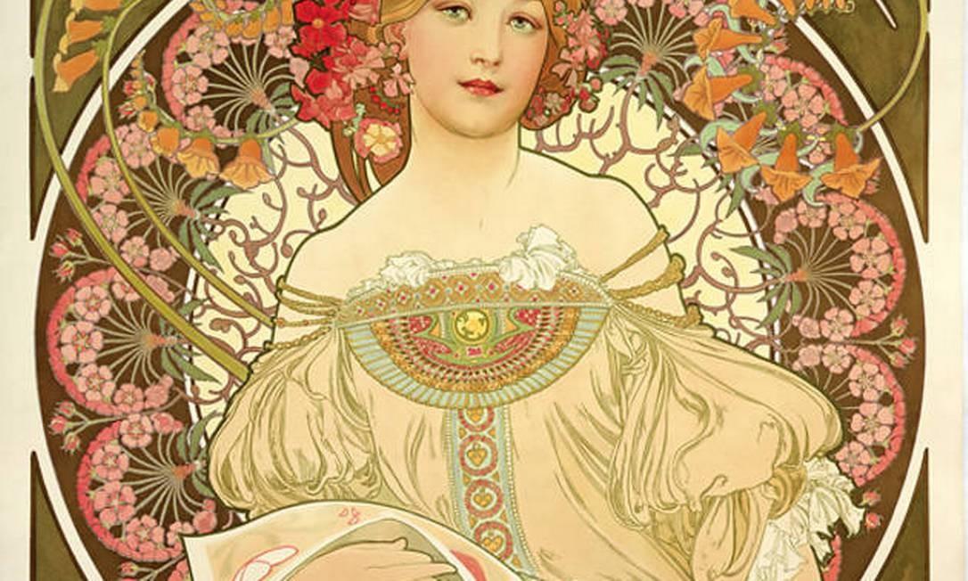 Obra do artista Alphonse Mucha Foto: Reprodução
