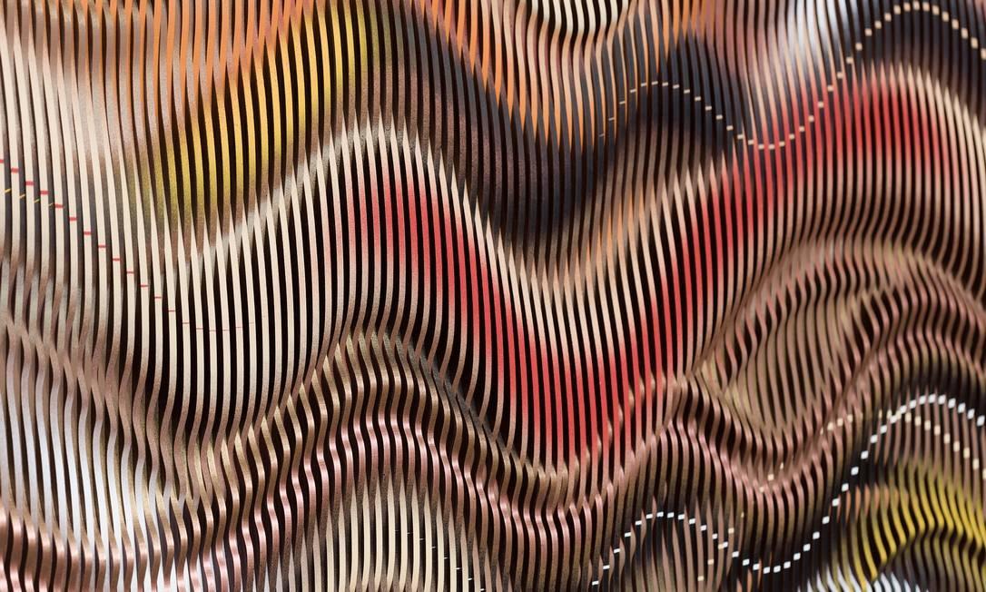Abraham Palatnik, Sem título, 2017, relevo, tinta alquídica sobre acrílico, 70 x 80 cm Foto: Divulgação/Pat Kilgore