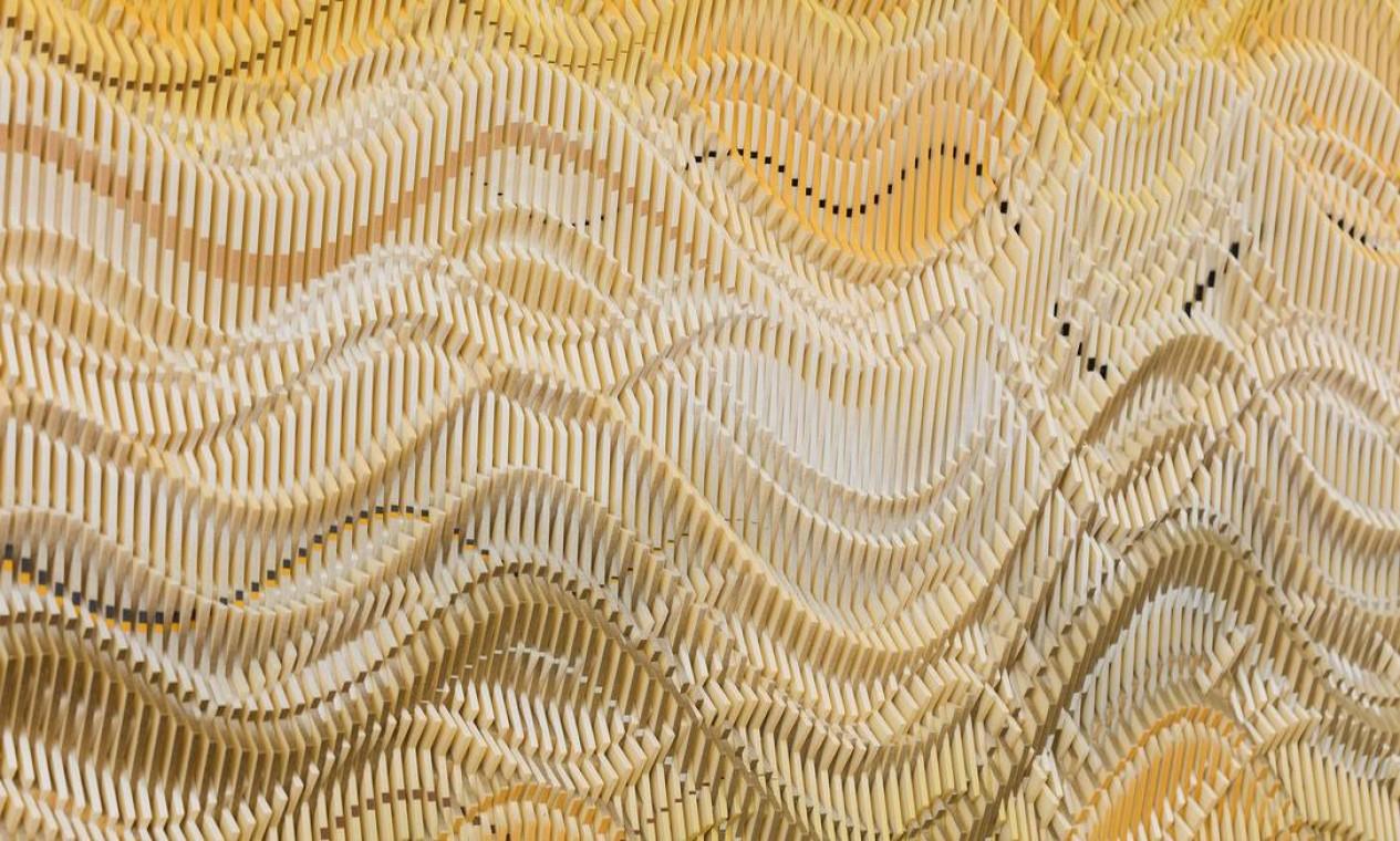 Abraham Palatnik, Sem título, 2018, relevo, tinta alquídica sobre acrílico, 70 x 80 cm, Foto: Pat Kilgore / Divulgação/Pat Kilgore