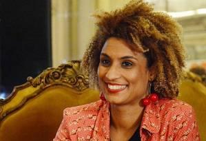 A vereadora Marielle Franco, assassinada em 14 de março Foto: Reprodução