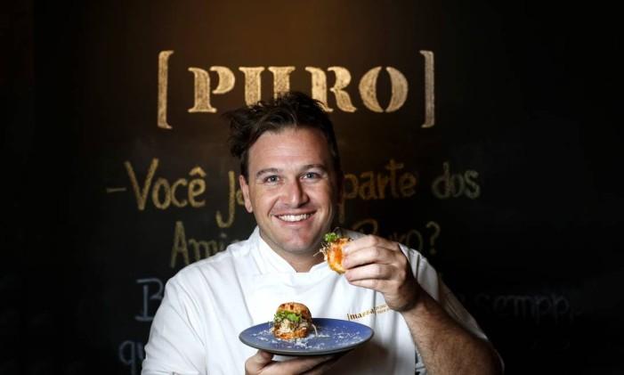 Pedro Siqueira, do restaurante Puro Foto: Fábio Rossi / Agência O Globo