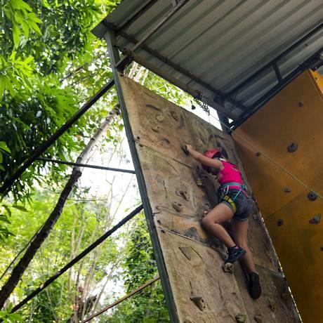 No Parque da Catacumba tem circuito de escalada e arvorismo Foto: Leo Martins / Agência O Globo
