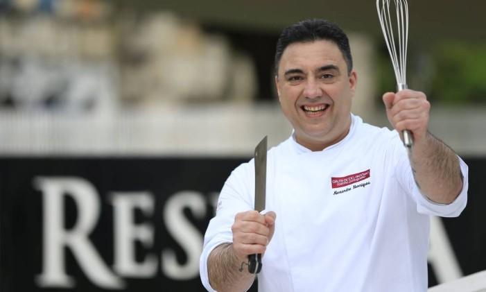 Chef Alexandre Henriques, do Gruta de Santo Antônio Foto: Roberto Moreyra / Agência O Globo
