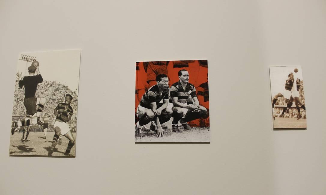 Mostra também exibe imagens raras e antigas de atletas lendários do clube, como Zizinho e Leônidas da Silva, ambos na foto do centro Divulgação