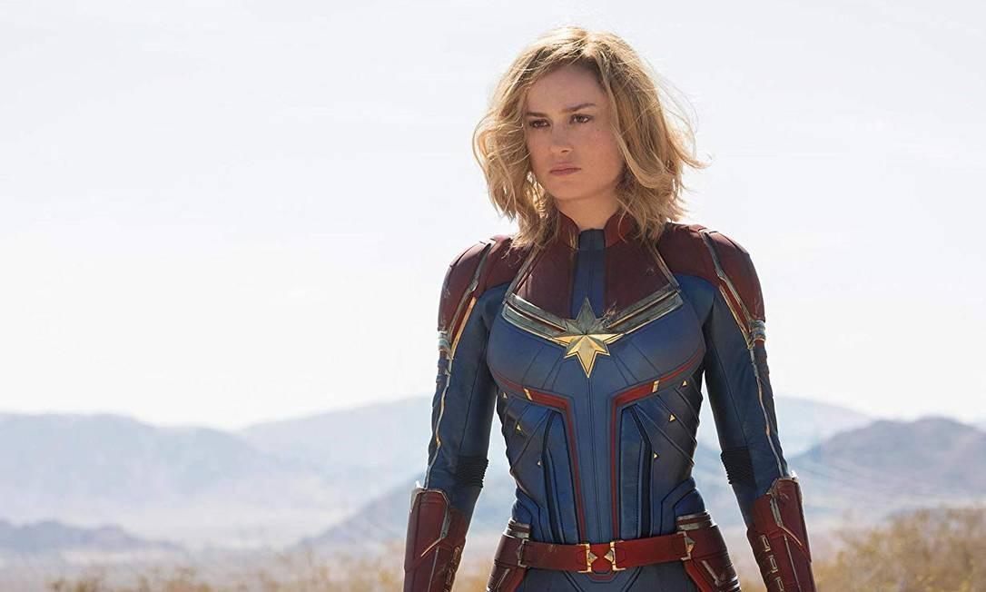 Brie Larson como a Capitã Marvel Foto: Divulgação