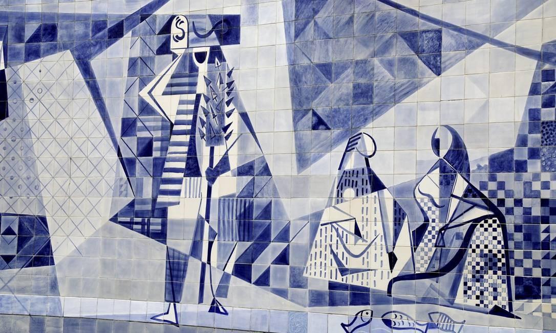 Painel de Burle Marx no Instituto Moreira Sales na Gávea Foto: Custódio Coimbra / Agência O Globo