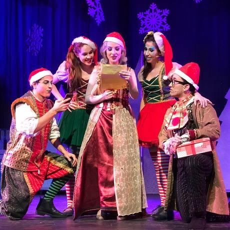 O 'Natal no Reino Congelado' está em cartaz no Teatro Vannucci Foto: Divulgação