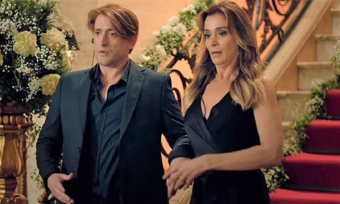 Paulo Gustavo e Mônica Martelli, em cena do filme Minha vida em Marte Foto: Ique Esteves / Divulgação