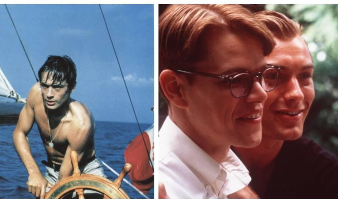 """Aos 25 anos, Alain Delon interpretou o inescrupuloso Tom Ripley em """"O Sol por testemunha"""" (1960), coprodução de França e Itália dirigida por René Clément. Em 1999, Anthony Minghella levou a história às telas como """"O talentoso Ripley"""", desta vez vivido por Matt Damon. Foto: Divulgação"""
