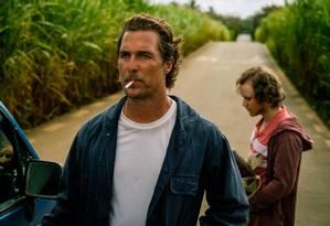 Matthew McConaughey em cena do filme 'Calmaria' Foto: GRAHAM BARTHOLOMEW / Divulgação