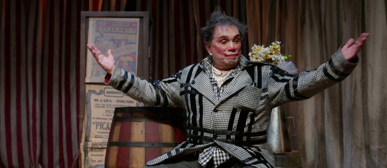 Dedé Santana na peça 'Palhaços' Foto: Tatiana Coelho / Divulgação/Tatiana Coelho