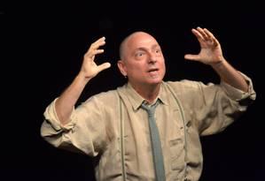 Ricardo Kosovski, em cena da peça
