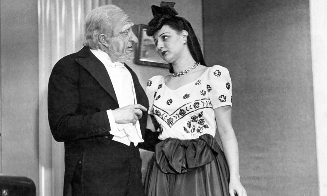 """Eva Todor e Afonso Stuart em """"Sol da primavera"""", em 1941. Foto: Divulgação"""