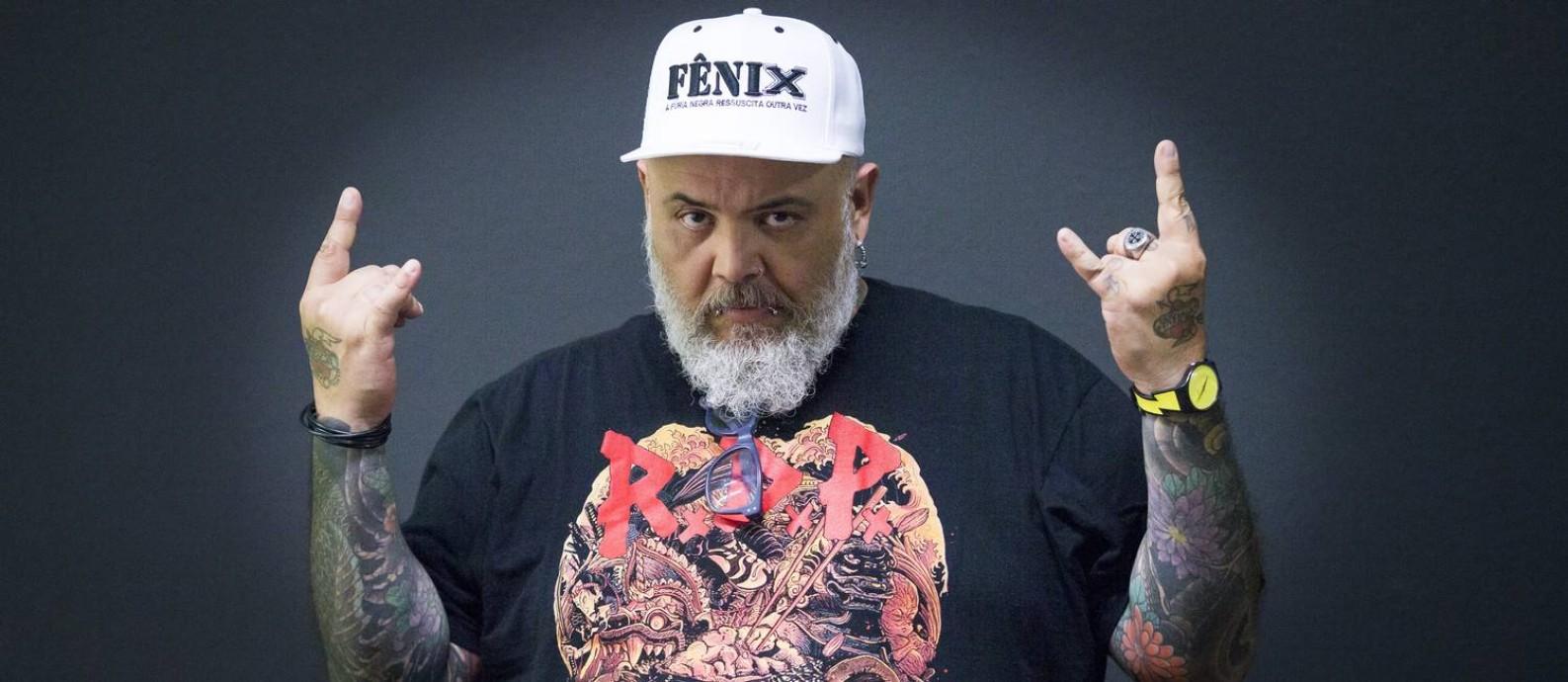 O cantor João Gordo, da banda Ratos do Porão Foto: Edilson Dantas/Agência O Globo