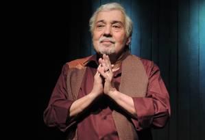 O ator Pedro Paulo Rangel, em cena da peça
