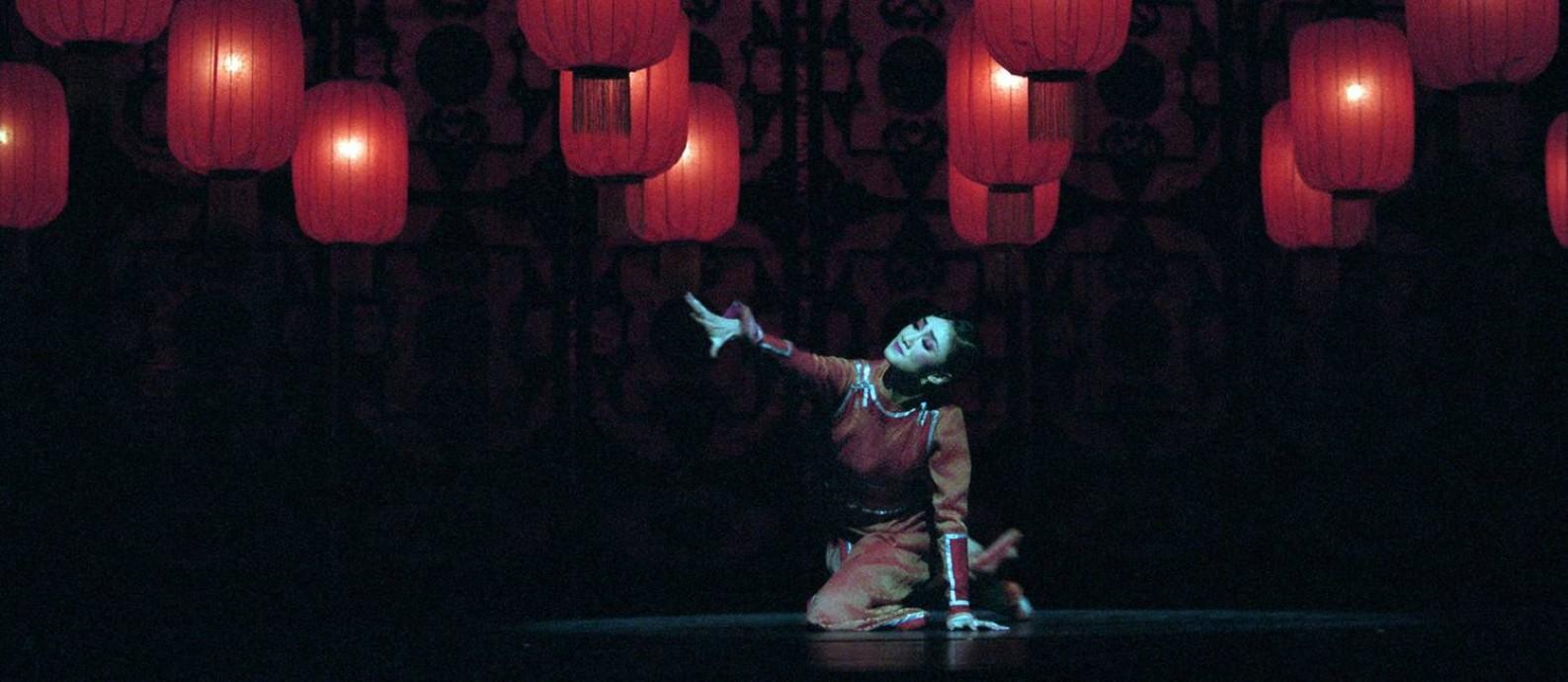Cena do espetáculo 'Lanternas vermelhas', do Balé Nacional da China Foto: Divulgação