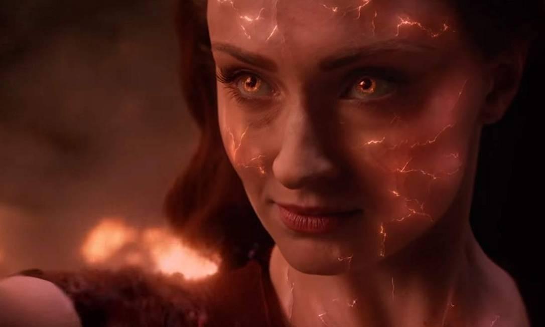 Na aventura, Jean Grey (Sophie Turner) começa a desenvolver incríveis poderes, que acabam a transformando na poderosa Fênix Negra Foto: Divulgação